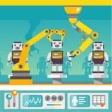 Ρομποτική έννοια βραχιόνων Στοκ Εικόνες