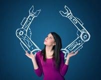 Ρομποτική έννοια όπλων στοκ φωτογραφία με δικαίωμα ελεύθερης χρήσης