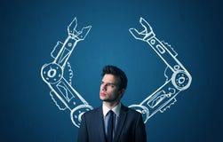Ρομποτική έννοια όπλων στοκ φωτογραφίες με δικαίωμα ελεύθερης χρήσης