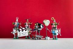 Ρομποτική κινηματογραφία Κινηματογραφική ταινία βλαστών ρομπότ πληρώματος τηλεοπτική κινηματογράφος ή Δημιουργικός διευθυντής ομά στοκ φωτογραφίες με δικαίωμα ελεύθερης χρήσης