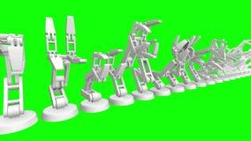Ρομποτικός βραχίονας τρισδιάστατος απεικόνιση αποθεμάτων