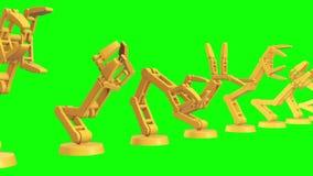 Ρομποτικός βραχίονας τρισδιάστατος διανυσματική απεικόνιση