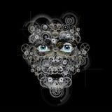 Ρομποτικό πρόσωπο Στοκ Εικόνες