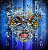 Ρομποτικό πρόσωπο Στοκ Φωτογραφίες