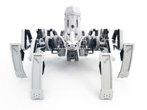Ρομπότ αραχνών την ΜΠΡΟΣΤΙΝΗ ΑΠΟΨΗ που χρησιμοποιεί Jansen των μηχανισμών και μηχανισμών Klann Στοκ φωτογραφίες με δικαίωμα ελεύθερης χρήσης
