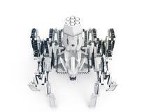 Ρομπότ αραχνών τη ΤΟΠ ΑΠΟΨΗ που χρησιμοποιεί Jansen των μηχανισμών και μηχανισμών Klann Στοκ Εικόνα