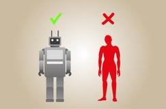 Ρομπότ και άνθρωπος Στοκ φωτογραφίες με δικαίωμα ελεύθερης χρήσης