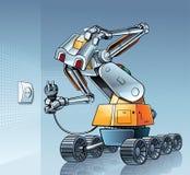 Ρομπότ και σύνδεση ασυμβιβάστου Στοκ φωτογραφία με δικαίωμα ελεύθερης χρήσης