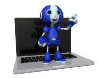 Ρομπότ και υπολογιστής Στοκ φωτογραφία με δικαίωμα ελεύθερης χρήσης