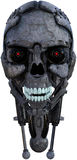 Ρομπότ κεφάλι Cyborg που απομονώνεται αρρενωπό Στοκ Φωτογραφίες