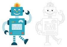 ρομπότ κινούμενων σχεδίων στοκ φωτογραφία με δικαίωμα ελεύθερης χρήσης