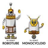 Ρομπότ κινούμενων σχεδίων που τίθενται ελεύθερη απεικόνιση δικαιώματος