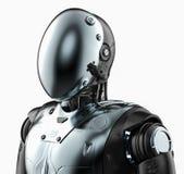 Ρομπότ με τη μάσκα προσώπου ελεύθερη απεικόνιση δικαιώματος