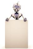 ρομπότ πινάκων διαφημίσεων διανυσματική απεικόνιση