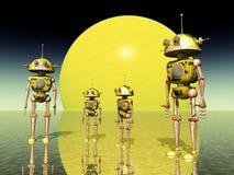 ρομπότ πλανητών διανυσματική απεικόνιση