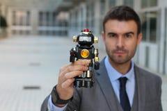 Ρομπότ που δημιουργείται για να ελέγξει και να καταστρέψει την ανθρωπότητα Στοκ Εικόνες