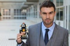 Ρομπότ που δημιουργείται για να ελέγξει και να καταστρέψει την ανθρωπότητα Στοκ φωτογραφίες με δικαίωμα ελεύθερης χρήσης