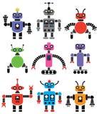 ρομπότ που τίθενται διανυσματική απεικόνιση