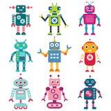 Ρομπότ που τίθενται Στοκ Εικόνα
