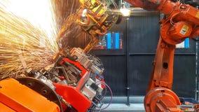 Ρομπότ σε ένα εργοστάσιο αυτοκινήτων Στοκ Φωτογραφία