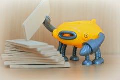 Ρομπότ στην κατασκευή Στοκ Εικόνα