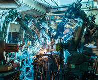 Ρομπότ συγκόλλησης Στοκ Φωτογραφία