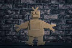 Ρομπότ φιαγμένο από έγγραφο Στοκ Εικόνες