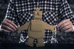 Ρομπότ φιαγμένο από έγγραφο Στοκ φωτογραφία με δικαίωμα ελεύθερης χρήσης