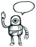 Ρομπότ doodle Στοκ φωτογραφία με δικαίωμα ελεύθερης χρήσης