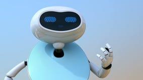 Ρομπότ Humanoid με την οθόνη αφής απεικόνιση αποθεμάτων