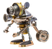 Ρομπότ Steampunk Στοκ εικόνα με δικαίωμα ελεύθερης χρήσης