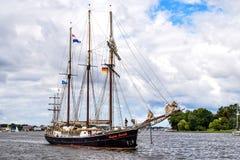 $ΡΟΣΤΟΚ, ΓΕΡΜΑΝΙΑ - ΤΟΝ ΑΎΓΟΥΣΤΟ ΤΟΥ 2016: πλέοντας σκάφος Hendrika Bartelds Στοκ εικόνα με δικαίωμα ελεύθερης χρήσης