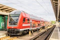 $ΡΟΣΤΟΚ - 29 ΜΑΐΟΥ 2016: Περιφερειακό τραίνο στη Γερμανία Στοκ εικόνα με δικαίωμα ελεύθερης χρήσης
