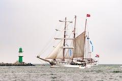 $ροστόκ, Γερμανία - τον Αύγουστο του 2016: Πλέοντας σκάφος απρόθυμο Lorien στη θάλασσα της Βαλτικής Στοκ φωτογραφίες με δικαίωμα ελεύθερης χρήσης