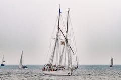 $ροστόκ, Γερμανία - τον Αύγουστο του 2016: Πλέοντας σκάφος Ιωάννα Saturna στη θάλασσα Στοκ Φωτογραφίες