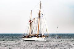 $ροστόκ, Γερμανία - τον Αύγουστο του 2016: Πλέοντας σκάφος στη θάλασσα της Βαλτικής Στοκ φωτογραφίες με δικαίωμα ελεύθερης χρήσης