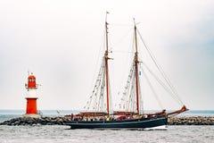 $ροστόκ, Γερμανία - τον Αύγουστο του 2016: Πλέοντας σκάφος Atalanta στη θάλασσα της Βαλτικής Στοκ εικόνα με δικαίωμα ελεύθερης χρήσης