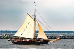 $ροστόκ, Γερμανία - τον Αύγουστο του 2016: Πλέοντας σκάφος Hoppet Brantevik στη θάλασσα της Βαλτικής Στοκ φωτογραφίες με δικαίωμα ελεύθερης χρήσης