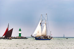 $ροστόκ, Γερμανία - τον Αύγουστο του 2016: Πλέοντας σκάφος Oban στη θάλασσα της Βαλτικής Στοκ Εικόνες