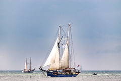 $ροστόκ, Γερμανία - τον Αύγουστο του 2016: Πλέοντας σκάφος Oban στη θάλασσα της Βαλτικής Στοκ φωτογραφία με δικαίωμα ελεύθερης χρήσης