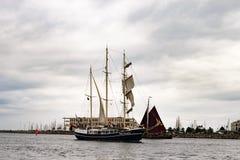 $ροστόκ, Γερμανία - τον Αύγουστο του 2016: Πλέοντας σκάφος Pedro Doncker στη θάλασσα της Βαλτικής Στοκ Φωτογραφίες