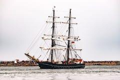 $ροστόκ, Γερμανία - τον Αύγουστο του 2016: Πλέοντας σκάφος Roald Amundsen στη θάλασσα της Βαλτικής Στοκ εικόνα με δικαίωμα ελεύθερης χρήσης