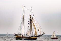 $ροστόκ, Γερμανία - τον Αύγουστο του 2016: Πλέοντας σκάφος Zuiderzee στη θάλασσα Στοκ εικόνες με δικαίωμα ελεύθερης χρήσης
