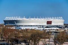 ΡΟΣΤΌΦ--ΦΟΡΕΣΤΕ, ΡΩΣΙΑ - 14 ΑΠΡΙΛΊΟΥ 2018: Χώρος του Ροστόφ γηπέδου ποδοσφαίρου Στοκ εικόνες με δικαίωμα ελεύθερης χρήσης