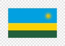 Ρουάντα - εθνική σημαία ελεύθερη απεικόνιση δικαιώματος