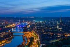Ρουέν τη νύχτα Στοκ φωτογραφία με δικαίωμα ελεύθερης χρήσης