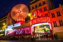Ρουζ Παρίσι Moulin στοκ εικόνες