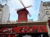 ρουζ του Παρισιού moulin της Γαλλίας Στοκ εικόνα με δικαίωμα ελεύθερης χρήσης