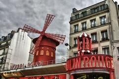 ρουζ του Παρισιού moulin Στοκ εικόνα με δικαίωμα ελεύθερης χρήσης