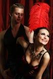 Ρουζ moulin χορευτών ζεύγους Στοκ εικόνες με δικαίωμα ελεύθερης χρήσης